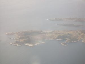 First Sight of Land: islands west of Haugesund.