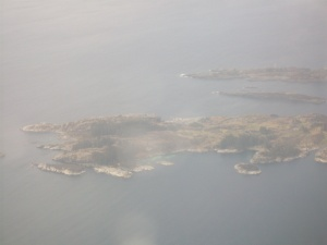 First Sight of Land: islands west of Haugesund.
