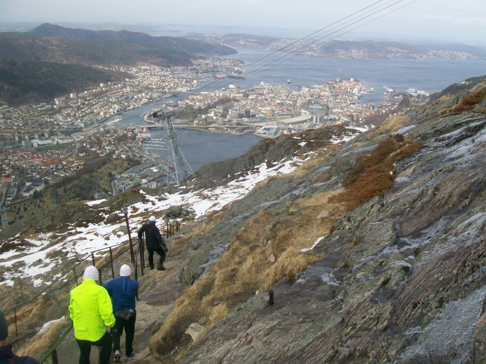 Climbing Mount Ulriken, Bergen, Norway (2/6)