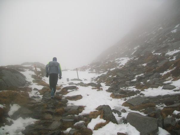 Climbing Mount Ulriken for second time.