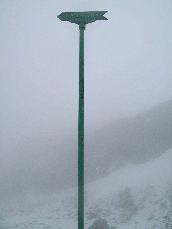 Route signpost.
