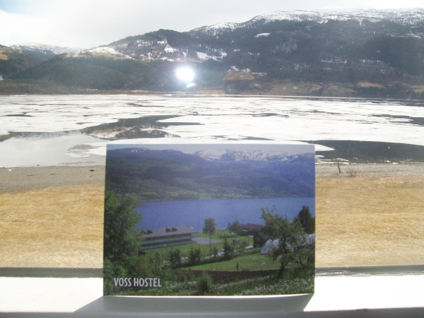 Lake  Vangsvatnet from Voss Hostel Evangervegen 68.