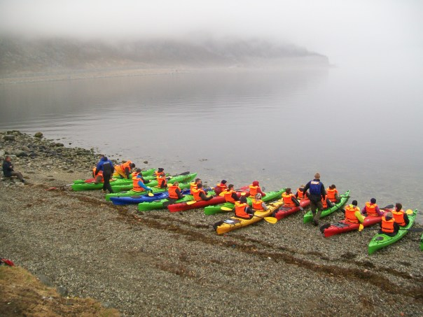 Kayak class on Eidfjord.